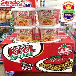 Mì trộn Kool Spaghetti Cung Đình  thùng 12 bát x105g x 1260g