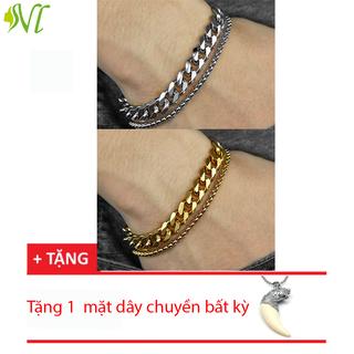 Lắc tay nam titan dẹp 2 lớp cáp phong cách trẻ ( xem hàng trước khi nhận) - 2lopdep thumbnail