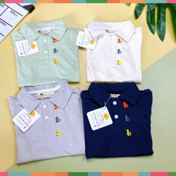 Áo Thun Có Cổ Bé Trai, Size 8-12, Hàng Made In Vn, Chất Cotton Xược Mềm Mát, Màu Sắc Xinh Yêu