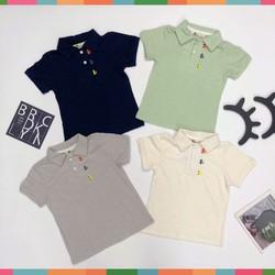 Áo Thun Có Cổ Bé Trai, Size 1-7, Hàng Made In Vn, Chất Cotton Xược Mềm Mát, Màu Sắc Xinh Yêu