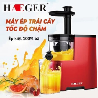 Máy ép trái cây hoa quả chậm, máy ép chậm Haeger công suất lớn 350W nên nghiền rất khỏe, lọc hết 100% bã [ LỖI 1 ĐỔI 1 KHÔNG MẤT PHÍ, BH 1 NĂM ] - 05050210 máy ép chậm thumbnail