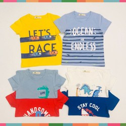 Áo Thun Bé Trai, Size 1-7, Hàng Made In Vn, Chất Cotton Xược Xuất Dư Đẹp, Nhiều Màu Sắc Cho Bé Lựa Chọn