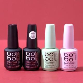 [sẵn hàng] Base top Bobo chính hãng - gel liên kết top phủ bóng cứng móng top lì Bobo - 8848952260 thumbnail