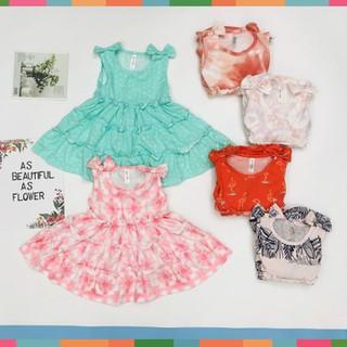 [Hàng Mới Về - Siêu Xinh] Váy Thun Bé Gái, Size 8-12, Hàng Made In Vn, Chất Cotton Xuất Dư Đẹp, Nhiều Màu Xin Yêu - SU388 thumbnail