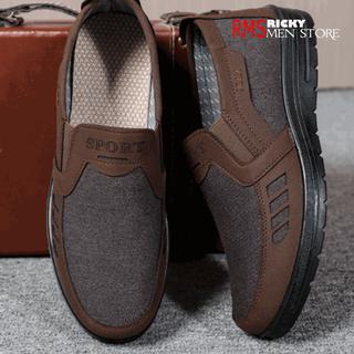 Giày lười vải nam thoáng khí cho bố - Giày thể thao nam trung niên cao cấp - MS8B thumbnail