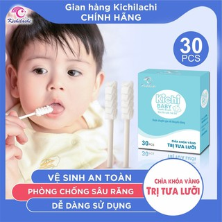 Gạc Rơ Lưỡi Vệ Sinh Miệng Kichilachi Chính Hãng - HBQ Kids - HBQ042Kids thumbnail