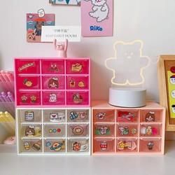 Tủ mini 9 ô, kệ đựng mỹ phẩm, stickers, washi trang trí bàn học, decor siêu đẹp, tặng 1 sticker kute kèm.