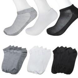 [TẤT THÔNG HƠI MÙA HÈ -ĐƯỢC XEM HÀNG] Combo gồm 10 đôi tất vớ cổ ngắn cao cấp thông hơi kháng khuẩn chống hôi chân