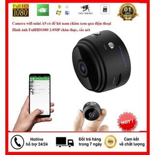 Camera WIFI Mini A9 Vỏ Kim loai, Có Pin - Bảo hành 12 Tháng - Camera WIFI Mini A9 thumbnail