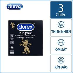 Bao cao su Kingtex (Bao bì mới) siêu mỏng – Hộp 3 chiếc