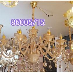 Đèn Chùm 15 Tay Bóng Pha Lê Thiết Kế Sang Trọng Trang Trí Phòng Khách, Nhà Hàng, khách Sạn Mã 86005- Đèn Phương Anh