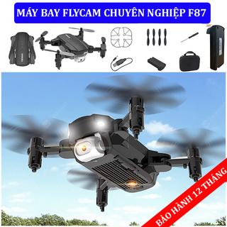 Flycam mini 4k Full HD F87,máy bay flycam điều khiển từ xa có camera kết nối Wifi quay phim,chụp ảnh- Flycam F87 - flycam f87 thumbnail