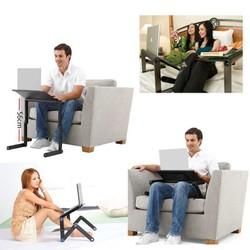 Bàn để laptop, máy tính gấp gọn xoay 360 độ, để được nhiều kiểu, nhiều tư thế khác nhau, màu ngẫu nhiên + Tặng kèm miếng lót chuột, mẫu ngẫu nhiên