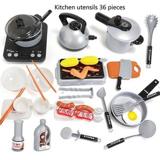 đồ chơi nấu ăn 36 món có bếp, thiết kế y như thật - 0819 thumbnail
