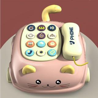 Đồ chơi điện thoại để bàn có nhạc cho bé yêu siêu cute-Đồ Chơi Điện Thoại Ô Tô Có Nhạc Và Đèn - Đồ Chơi Phát Nhạc Giáo Dục Sớm Cho Bé Từ 1-3 Tuổi - đồ chơi điện thoại thumbnail