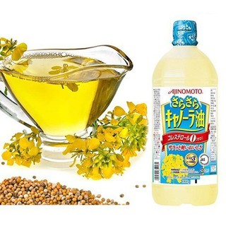 Dầu Ăn Hoa Cải Ajinomoto 1000g Nhât Bản (Date T5 2022) - dầu ăn hoa cải thumbnail