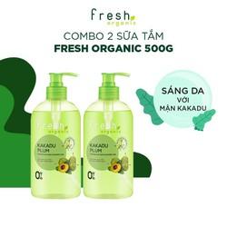 Combo 2 Sữa Tắm Fresh Organic Sáng Da  500g/chai