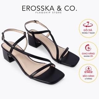 Giày sandal cao gót Erosska thời trang phối dây quai mảnh tinh tế cao 4cm CS011 - CS011 thumbnail