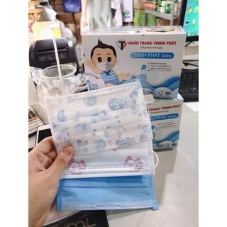 Khẩu trang y tế trẻ em 4 lớp (hộp 50c) - trrttr thumbnail