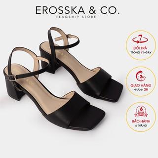Giày sandal cao gót Erosska thời trang quai ngang phối dây tinh tế cao 5cm CS010 - CS010 thumbnail