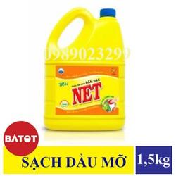 Nước Rửa Chén Đậm Đặc NET Hương Chanh 1,5kg