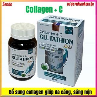 Viên Uống Đẹp Da Collagen +C Glutahion - Chống Lão Hóa, Ngừa Nếp Nhăn-Giảm Thâm Nám- Hộp 60 viên - Collagen +C Glutahion thumbnail