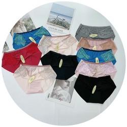 Combo 10 quần lót đúc su kháng khuẩn phối ren siêu đẹp