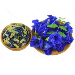 Hộp 80gr trà hoa đậu biếc giảm cân chăm sóc sức khỏe, nấu râu câu, nấu xôi làm màu tự nhiên