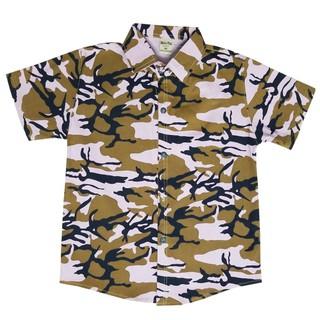 Áo sơ mi lính kaki chất co giãn tay ngắn size lớn 16-36kg vân màu ngẫu nhiên - K7SM_Linh thumbnail