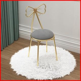 Ghế nơ bàn trang điểm phong cách hàn quốc - Ghế hình chiếc nơ xinh xắn - Ghế nơ bàn trang điểm phong cách Bắc Âu - SD0689 thumbnail