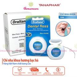 Chỉ Nha Khoa ORALTANA - chuyên chăm sóc răng miệng - 1 cuộn chỉ kẽ răng loại bỏ sạch mảng bám sau khi ăn - bảo vệ răng miệng khỏi mảng bám sâu răng