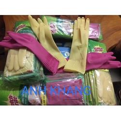 Găng Tay – bao tay – Cao Su Y Tế Không Bôt HTC Glove hộp 100 cái màu hồng