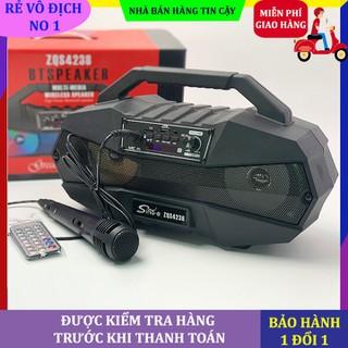Loa bluetooth karaoke Sing-e ZQS4238, loa bluetooth karaoke, tặng kèm mic, bluetooth 5.0, loa kép công suất 12w cho âm thanh vòm 360 độ, hỗ trợ thẻ nhớ mở rộng, USB, kết nối aux - Loa sing-e zqs4238 - ZQS4238 thumbnail