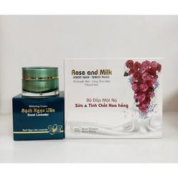 Kem Bạch Ngọc Liên Lavender Mua 1 Tặng 1 Bộ Đắp Mặt Rose and Milk Hoa Hồng
