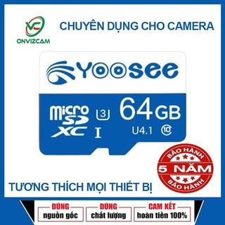 Thẻ nhớ Chuyên Camera Wifi, Camera hành trình Yoosee 64GB - U3, class 10 - Thẻ nhớ YOOSEE Plus 64G - Yoosee 64GB thumbnail