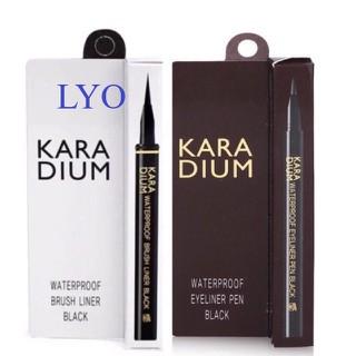 Bút dạ kẻ mắt nước Karadium Hàn Quốc vỏ nâu và vỏ trắng. - Bút dạ kẻ mắt nước Karadium thumbnail