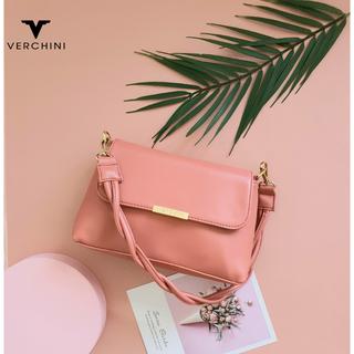 Túi xách thời trang Verchini 1 quai thắt bính nắp nẹp - 02-001-0012-0356 thumbnail