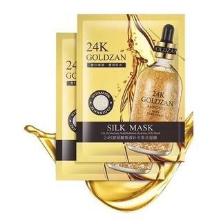Mặt nạ vàng 24k, Hộp 10 miếng mặt nạ, dưỡng trắng da mặt với tinh chất vàng, chống lão hóa, dứt điểm mụn nám - 4151 thumbnail