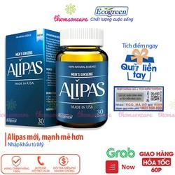 Sâm Alipas mẫu mới tăng cường sức khỏe sinh lực testosterone cho nam giới hỗ trợ bổ thận âm tráng dương tăng ham muốn thành phần từ thảo dược có tem tích điểm chính hãng