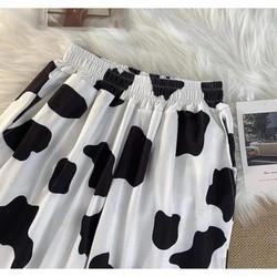 quần cartoon pant unisex – Quần cartoon pants – quần hoạt hình unisex – quần dài hoạ tiết bò sữa ulzzang
