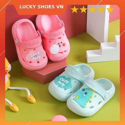 Giày dép trẻ em, dép cho bé trai và dép bé gái từ 1-6 tuổi [CHICK CUTE BABY] giày dép trẻ em hình thú ngộ nghĩnh đi siêu êm LUCKY SHOES VN – H000006