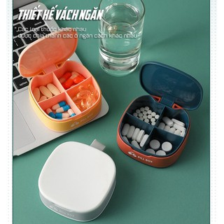 Hộp Đựng Thuốc Mini Tiện Lợi Chia 4 Ngăn - Hộp Đựng Thuốc - 59845 thumbnail