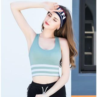 Áo bra gym yoga bra thể thao dáng crotop khoét lưng sexy thoáng mát kẻ sọc rất thể thao - ABRS thumbnail