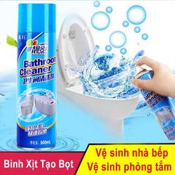 [cho xem hàng] Chai Xịt Bọt Tuyết Vệ Sinh Phòng Tắm Đa Năng Bathroom Cleaner 500ml