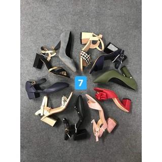 combo 4 đôi giày cao gót. dép lê các loại - xatrian4 doi 6