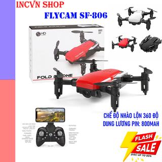 Flycam mini giá rẻ 4k Full HD SF806 ,máy bay flycam điều khiển từ xa có camera kết nối Wifi quay phim,chụp ảnh - flycam mini sf806 thumbnail