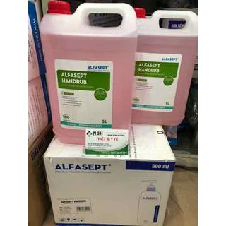 [HÀNG CÔNG TY] Can 5L 5 LÍT Nước rửa tay khô sát khuẩn nhanh diệt khuẩn ALFASEPT HANDRUB- dung dịch rửa tay khô sát khuẩn nhanh ALFASEPT HANDRUB can 5 LÍT - can 5L alfasept thumbnail