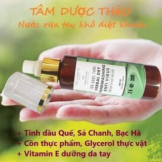 1 chai nước rửa tay khô Tâm Dược Thảo 100ml - HGV142NB132 thumbnail