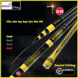 Cần Câu Tay GW 8H Cao Cấp Siêu Khỏe, Đẹp Bắt Mắt, Tuổi Thọ Cao, Săn Hàng - Sanami Fishing