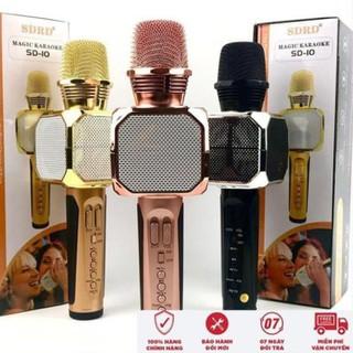 Mic Karaoke, Micro Bluetooth Karaoke SD10 không dây bảo hành 6 tháng - Bắt giọng tốt, âm vang - Mic Karaoke, Micro Bluetooth Karaoke SD10 thumbnail